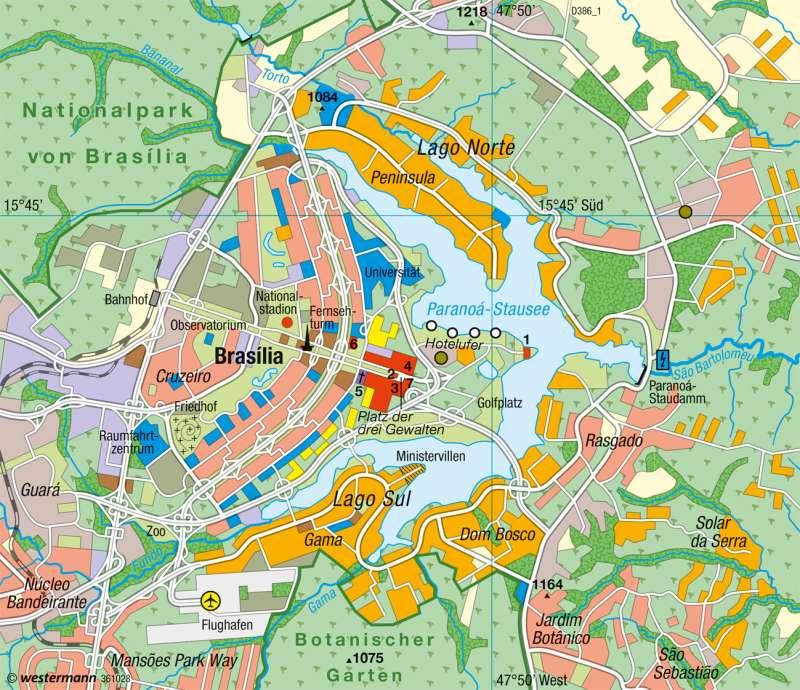Brasília | Hauptstadt seit 1960 | Brasilien - Entwicklung und Nachhaltigkeit | Karte 237/6