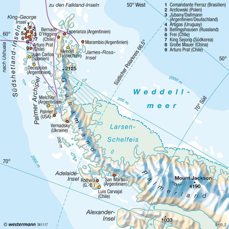 Antarktische Halbinsel | Forschung | Polargebiete | Karte 239/5