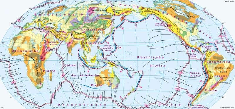 Erde | Geotektonik | Erdgeschichte, Vulkanismus, Tektonik | Karte 170/3
