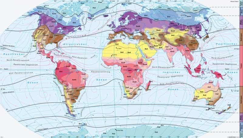 Erde | Klimate der Erde | Erde - Klimazonen | Karte 244/4