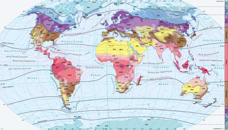 Klimate der Erde |  | Klimazonen | Karte 172/4