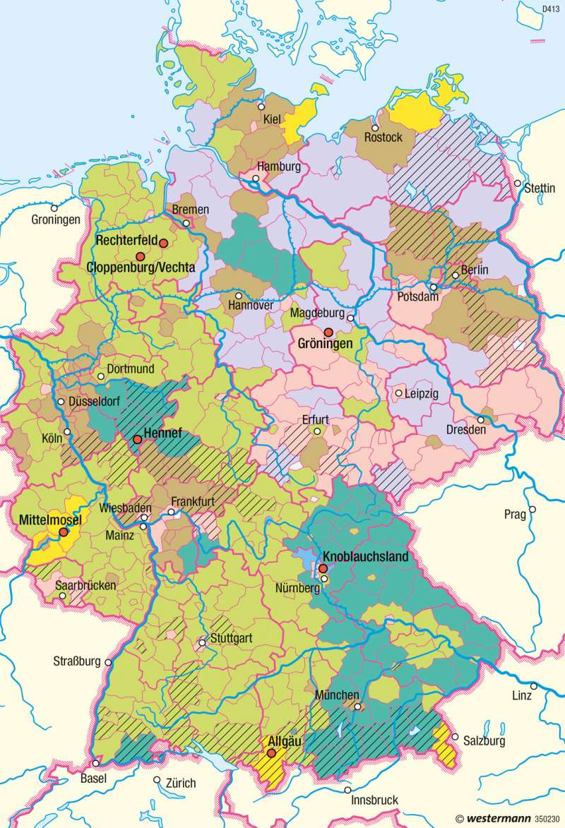 Deutschland | Zusätzliche Einkommensquellen von Landwirten | Deutschland - Landwirtschaftliche Betriebe | Karte 58/2