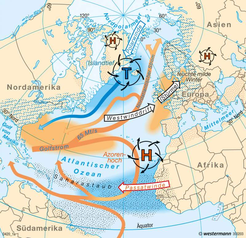 Azoren Karte Weltatlas.Diercke Weltatlas Kartenansicht Europa Winterliche