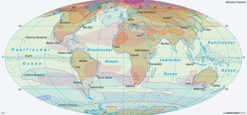Erde | Klimawandel im 21. Jahrhundert | Erde - Klimadynamik und Weltmeere | Karte 250/3