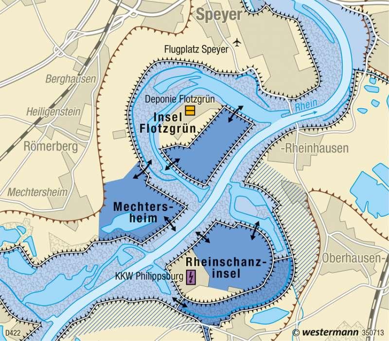 Diercke Weltatlas Kartenansicht Rhein Bei Speyer