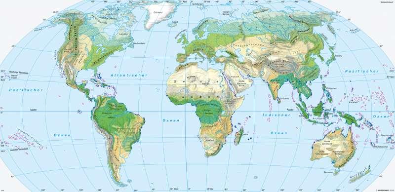 Erde | Ökozonen | Erde - Potenzielle natürliche Vegetation | Karte 258/1