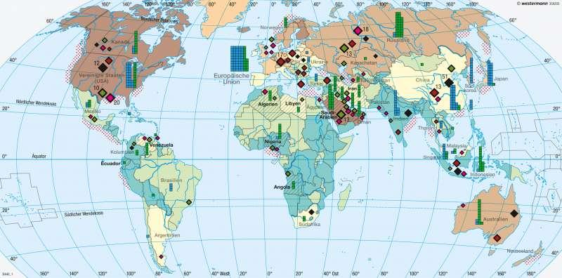 Erde | Energierohstoffe/Energieverbrauch | Erde - Energie und Umwelt | Karte 264/1