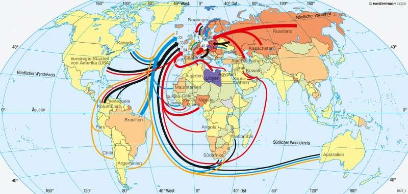 Deutschland | Rohstoffabhängigkeit | Erde - Welthandel | Karte 266/2