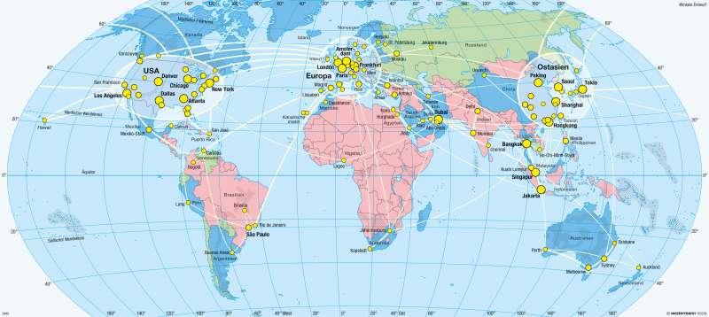 Diercke Weltatlas Kartenansicht Erde Weltflugverkehr 978 3