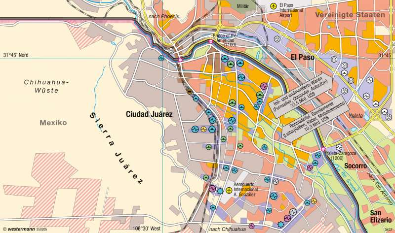 Ciudad Juárez (Mexiko) | Maquiladora-Industrie | Erde - Globalisierung | Karte 268/2