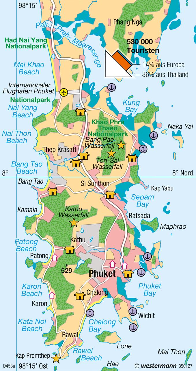 phuket karte Diercke Weltatlas   Kartenansicht   Phuket (Thailand