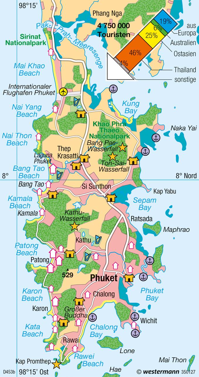 Thailand Karte.Diercke Weltatlas Kartenansicht Phuket Thailand