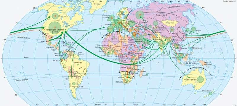 Erde | Migration | Mobilität – Tourismus und Migration | Karte 188/3