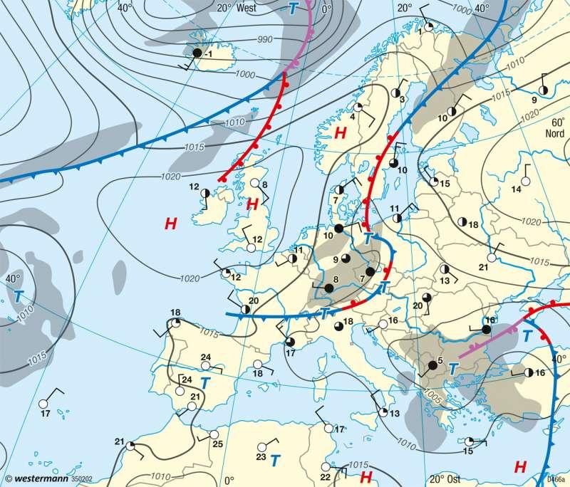 Europa | Wetterkarten vom 18.4.2014 | Europa - Wetter und Atmosphäre | Karte 92/3