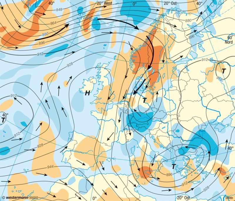 Europa   Wetterkarten vom 18.4.2014   Europa - Wetter und Atmosphäre   Karte 92/3