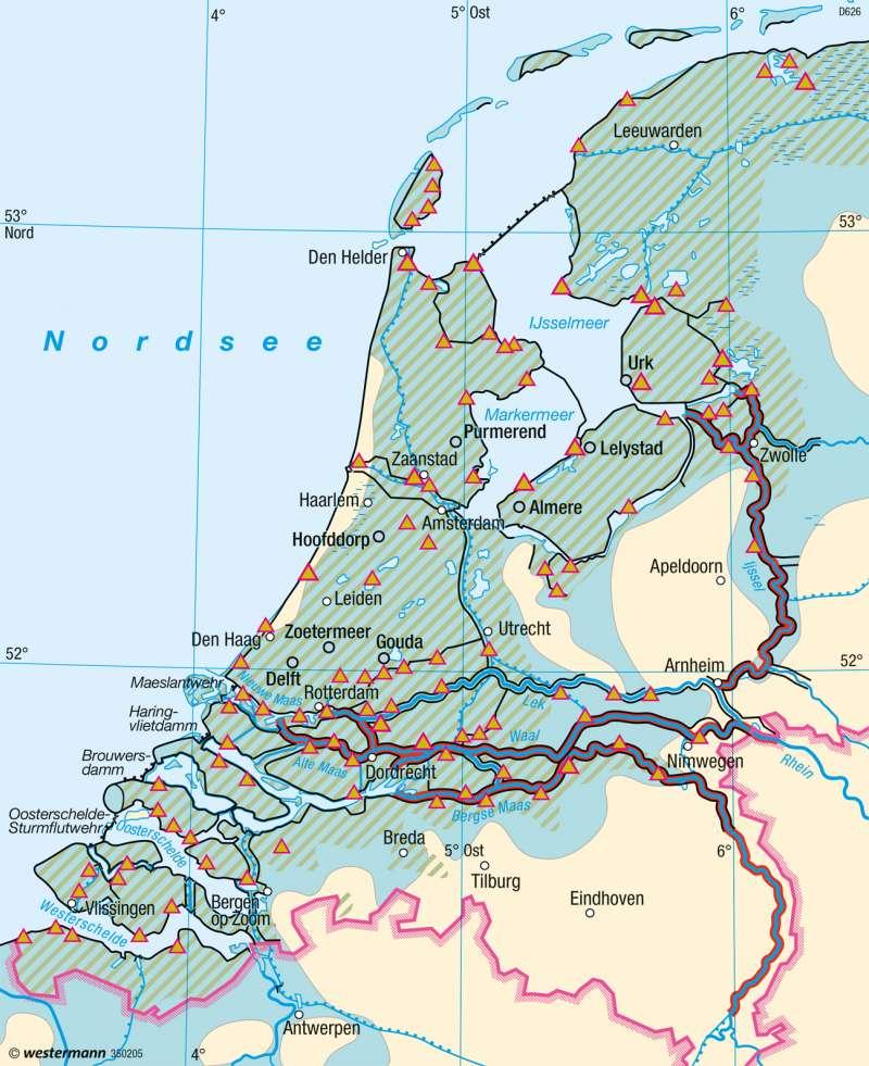 Niederlande Ijsselmeer Karte.Diercke Weltatlas Kartenansicht Niederlande Entwässerung 978