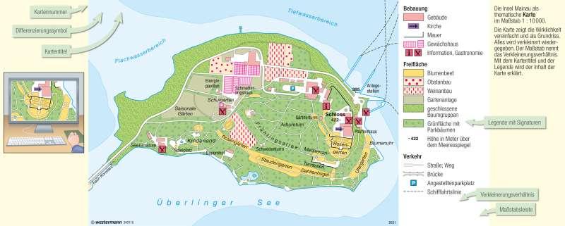 Mainau | Blumeninsel | Vom Bild zur Karte | Karte 8/2