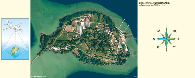 Mainau | Insel im Überlinger See (Bodensee) | Vom Bild zur Karte | Karte 8/1