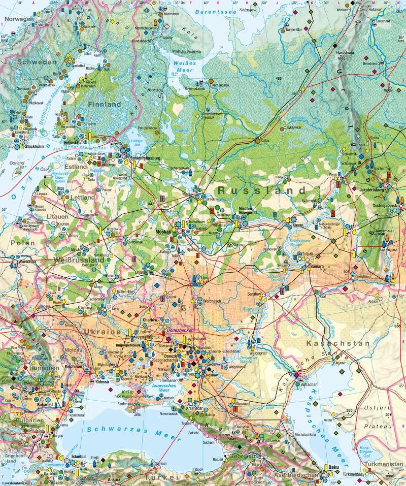 Diercke Weltatlas Kartenansicht Osteuropa Wirtschaft