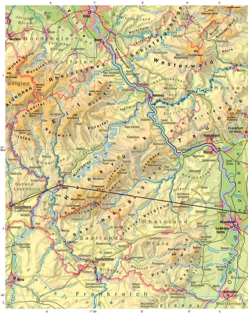 rheinland pfalz karte Diercke Weltatlas   Kartenansicht   Rheinland Pfalz     978 3 14