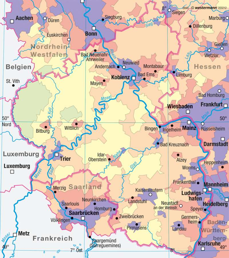 Diercke Weltatlas Kartenansicht Rheinland Pfalz 978 3 14