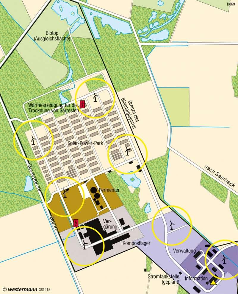 Saerbeck (Münsterland) | Bioenergiepark | Deutschland - Regenerative Energien und Nachhaltigkeit | Karte 69/5