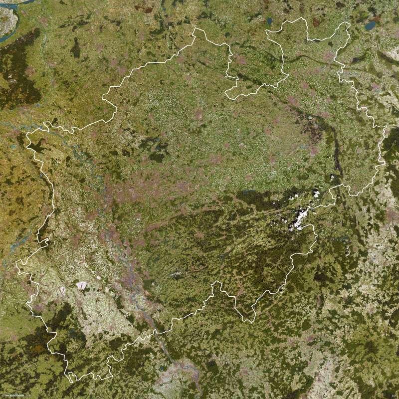 Nordrhein-Westfalen   Satellitenbild   Vom Bild zur Karte   Karte 9/3