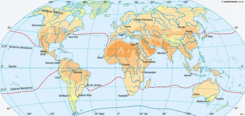Erde | Temperaturen im Juli | Klimaelemente | Karte 175/2