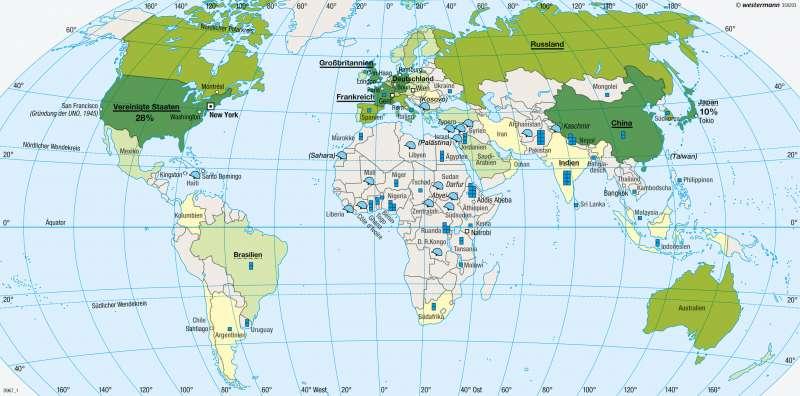 Erde | Vereinte Nationen/United Nations (UN) | Erde - Geopolitik | Karte 280/2