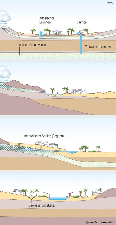 | Oasentypen | Naher und Mittlerer Osten - Siedlungsentwicklung | Karte 181/5