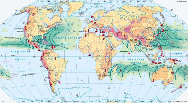 Erde | Naturgefahren und Naturrisiken | Erde - Naturrisiken und Verwundbarkeit | Karte 252/2