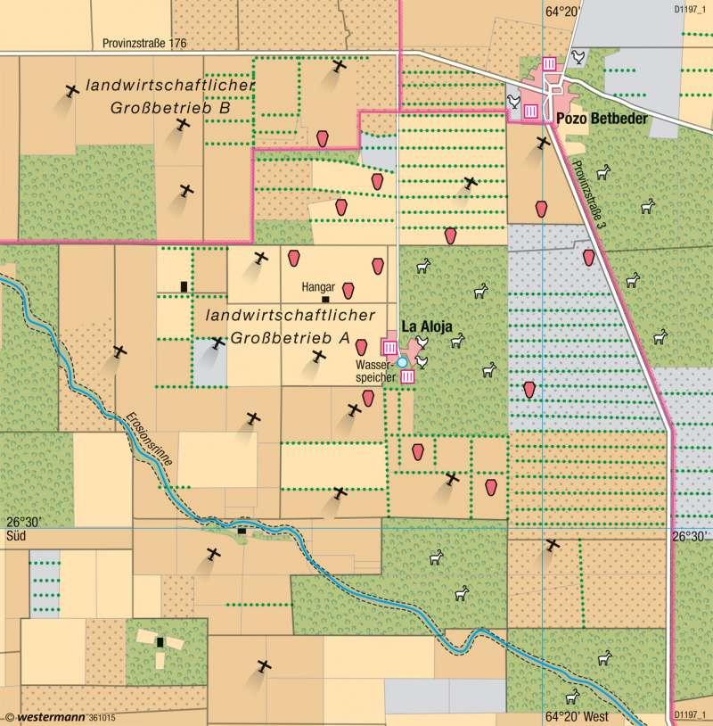 Santiago del Estero (Argentinien) | Sojaanbau | Südamerika - Intensive und extensive Landwirtschaft | Karte 235/6