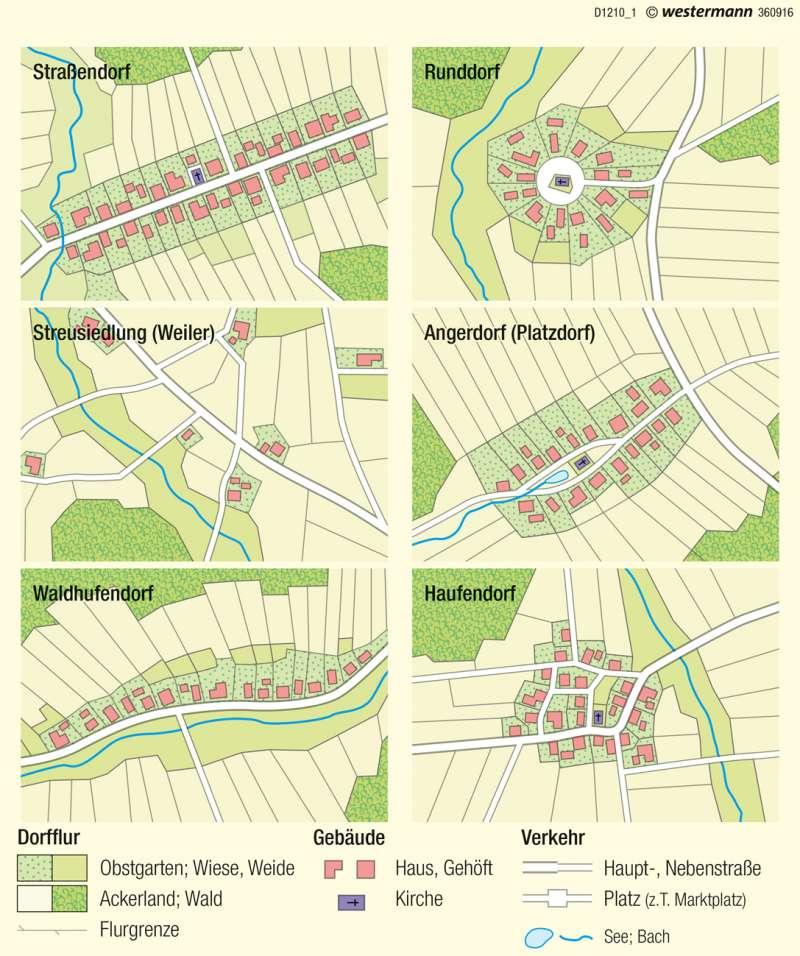 Diercke Weltatlas - Kartenansicht - - Dorfformen - 978-3-14-100800-5 ...