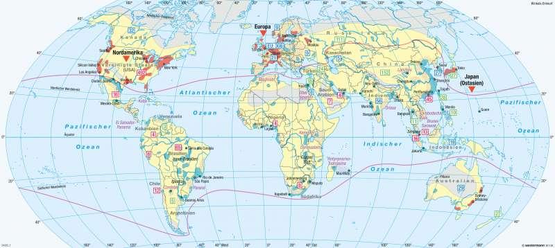 Erde | Globale Fragmentierung (nach Scholz, 2012) | Erde - Multipolare Welt | Karte 270/1