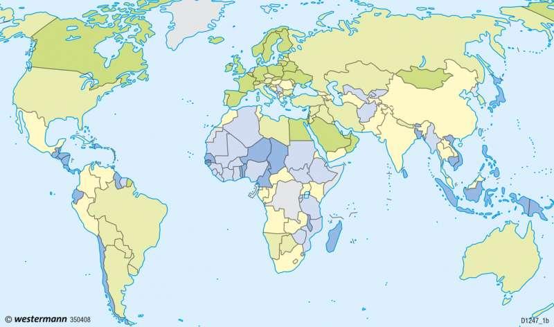 Erde | Verwundbarkeit und ihre Messung | Erde - Naturrisiken und Verwundbarkeit | Karte 252/1