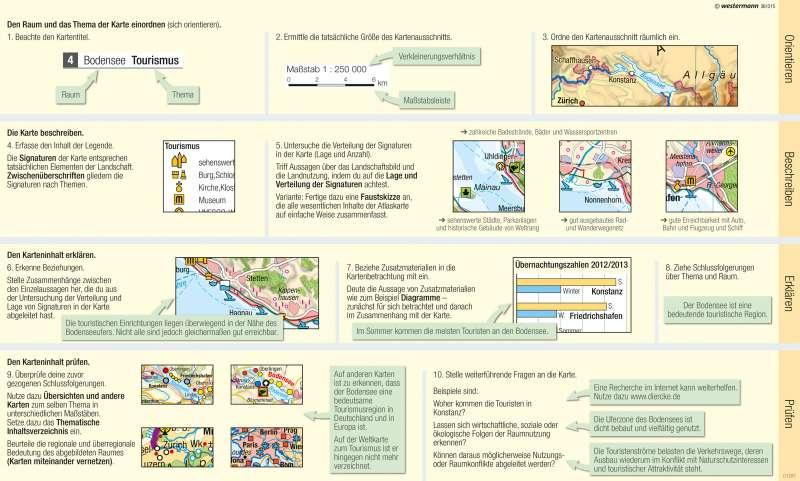 | Eine thematische Karte lesen und auswerten | Kartenlesen - Eine thematische Karte lesen und auswerten | Karte 13/3