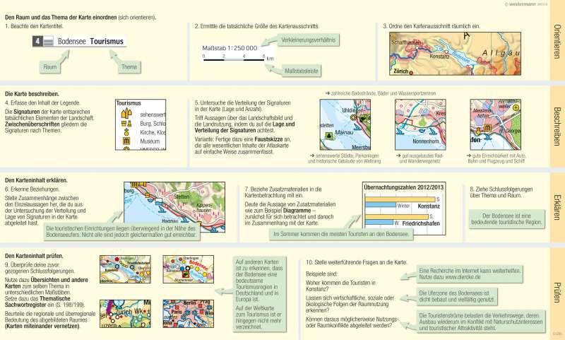 Eine thematische Karte lesen und auswerten |  | Eine thematische Karte lesen und auswerten | Karte 11/3