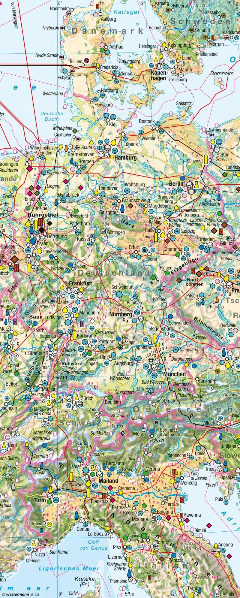 | Wirtschaftskarte | Kartenlesen - Wirtschaftskarten auswerten | Karte 15/8