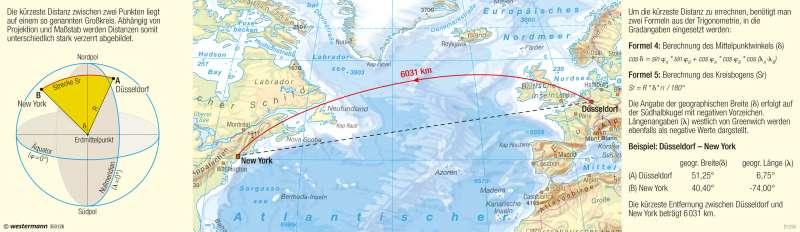 | Entfernungen auf Globen und Karten | Kartenlesen - Mit dem Maßstab arbeiten | Karte 17/5