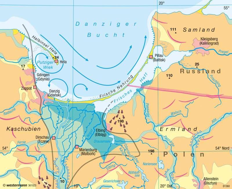 Danziger Bucht | Haffküste | Europa - Gewässer und Küsten | Karte 91/5