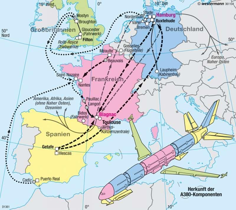 | Europäischer Produktionsverbund A380 | Europäische Union | Karte 101/7
