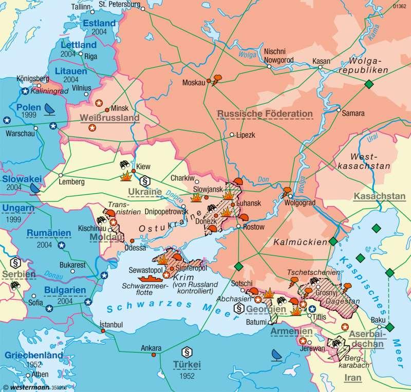 Osteuropa | Konflikt (2014) | Erde - Geopolitik | Karte 281/4
