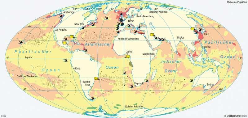weltmeere karte Diercke Weltatlas   Kartenansicht   Weltmeere   Umweltbelastungen