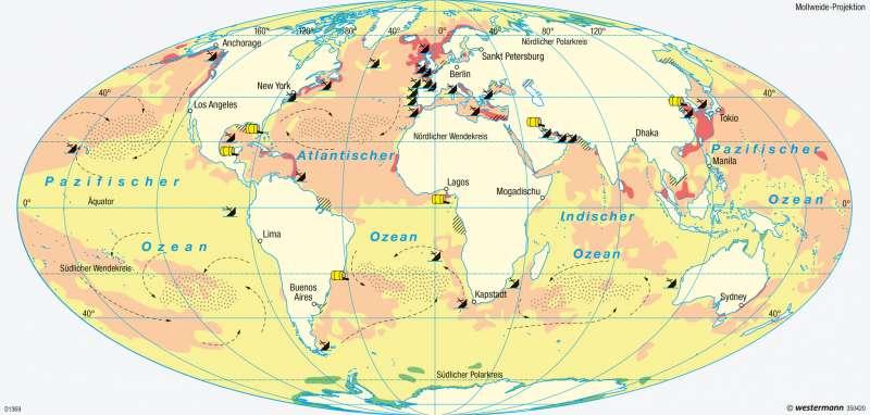 Weltmeere | Umweltbelastungen | Weltmeere | Karte 183/5