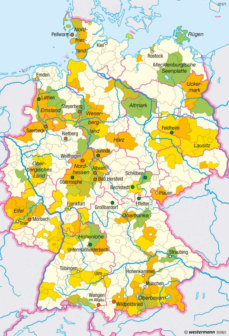 Deutschland | Energieautarke Regionen | Nachhaltige Entwicklungspfade | Karte 48/1