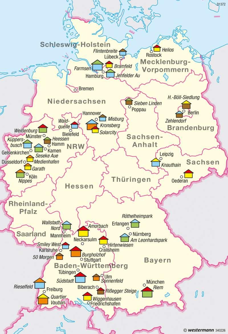 Deutschland | Nachhaltiger Siedlungsbau | Nachhaltige Entwicklungspfade | Karte 48/2