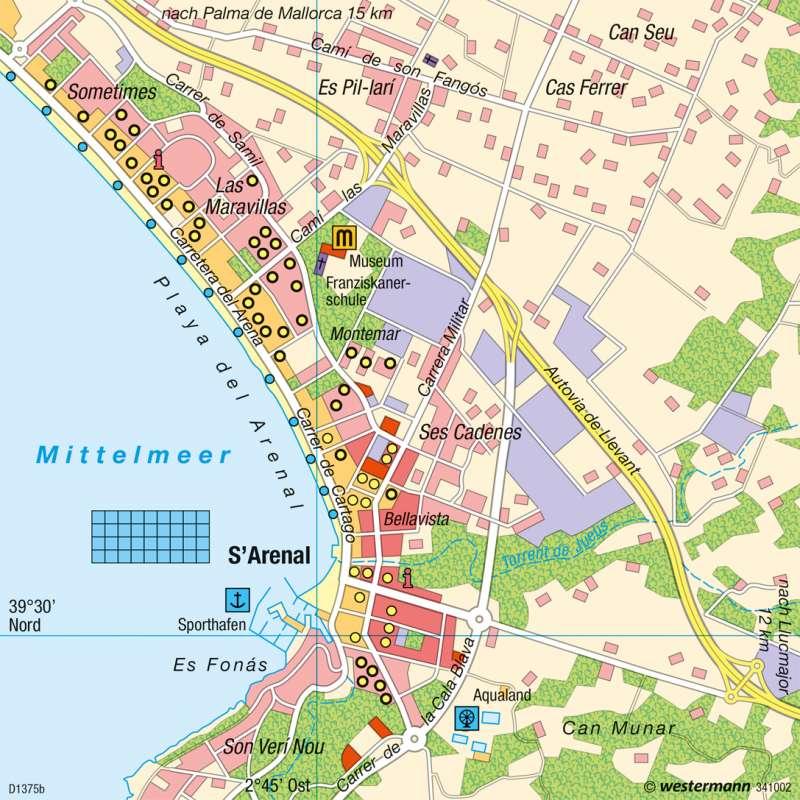 S'Arenal (Mallorca)   Badetourismus   Tourismus   Karte 65/4