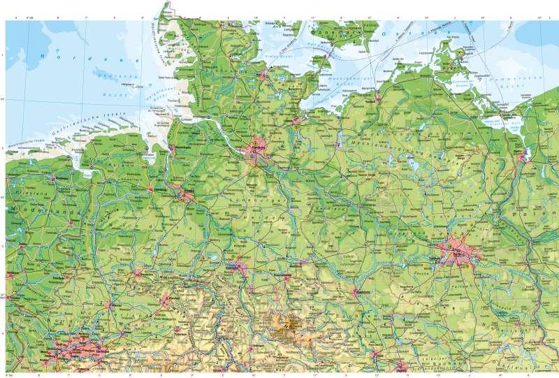 karte norddeutschland Diercke Weltatlas   Kartenansicht   Deutschland nördlicher Teil  karte norddeutschland