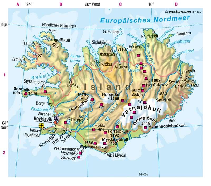 island karte Diercke Weltatlas   Kartenansicht   Island   Physische Karte   978