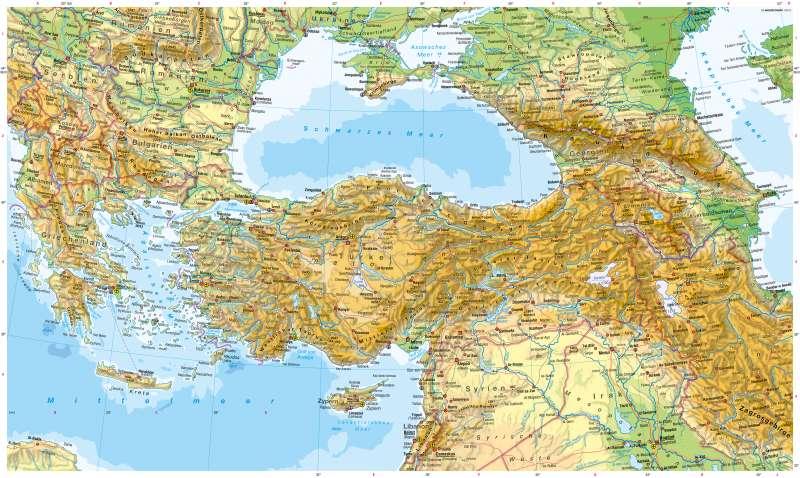 Karte Türkei.Diercke Weltatlas Kartenansicht Südosteuropa Türkei Kaukasus